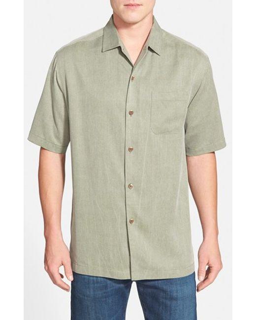 Tommy Bahama   Green 'san Clemente' Original Fit Silk Camp Shirt for Men   Lyst