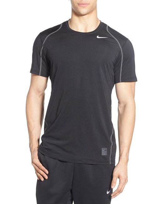 nike 39 pro cool compression 39 fitted dri fit t shirt in blue