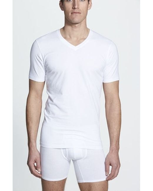 Naked | Essential 2-pack Stretch Cotton T-shirt, White for Men | Lyst