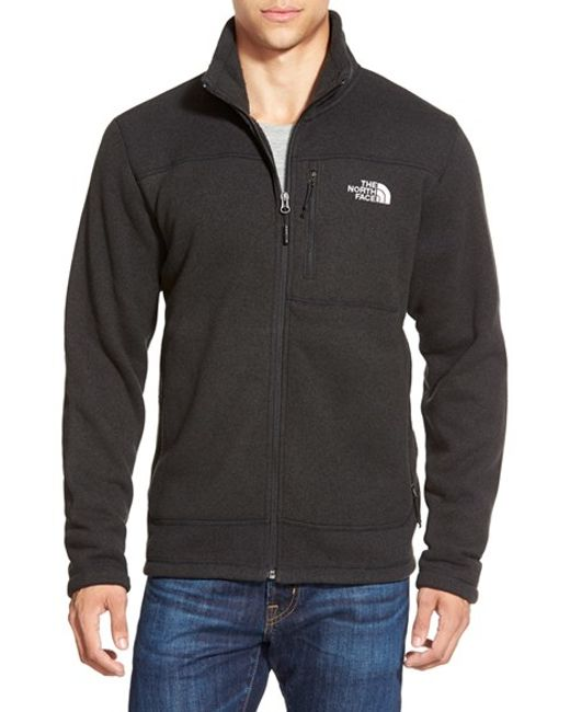 The North Face | Black 'gordon Lyons' Zip Fleece Jacket for Men | Lyst