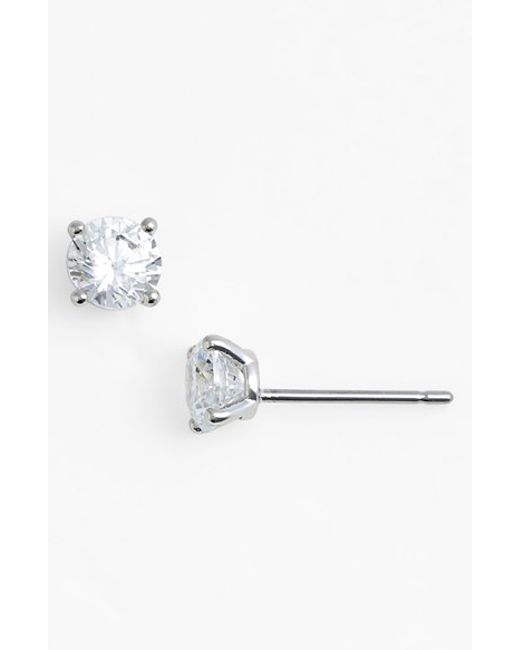 Nadri | Metallic Small Cubic Zirconia Stud Earrings | Lyst