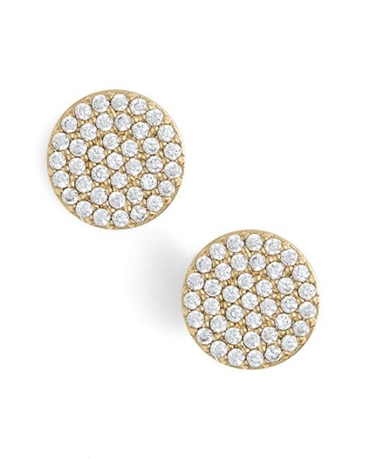 Nadri | Metallic 'geo' Stud Earrings | Lyst