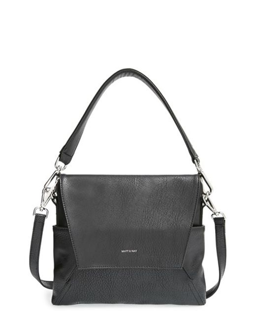 Matt & Nat | Black 'minka' Faux Leather Shoulder Bag | Lyst