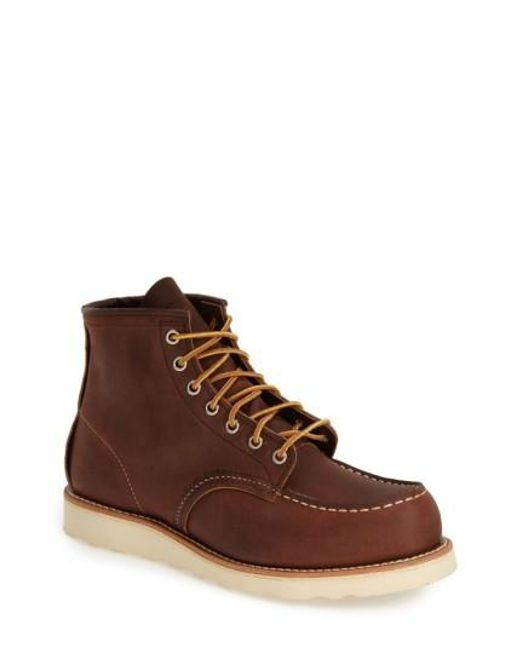 J.Crew | Brown 6 Inch Moc Toe Boot for Men | Lyst
