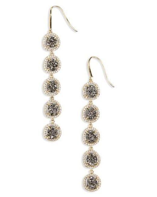 Melinda Maria | Metallic Meredith Drop Earrings | Lyst