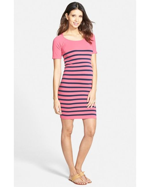 Tees by Tina | Blue 'nautical' Short Sleeve Maternity Dress | Lyst