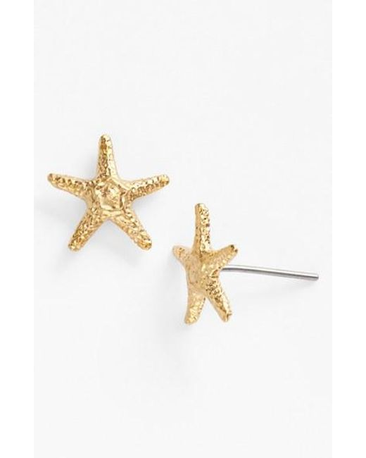 Ki-ele | Metallic 'manini' Starfish Stud Earrings | Lyst