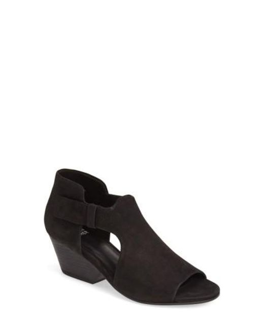Eileen Fisher   Black Iris Suede Ankle Boots   Lyst