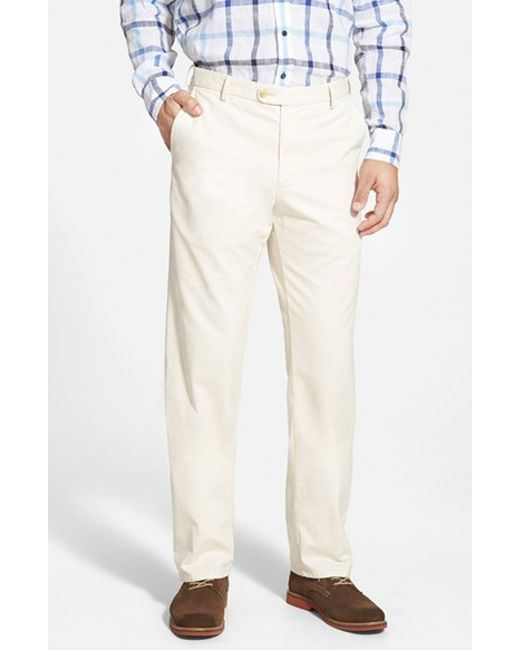 Peter Millar | Natural 'raleigh' Washed Twill Pants for Men | Lyst