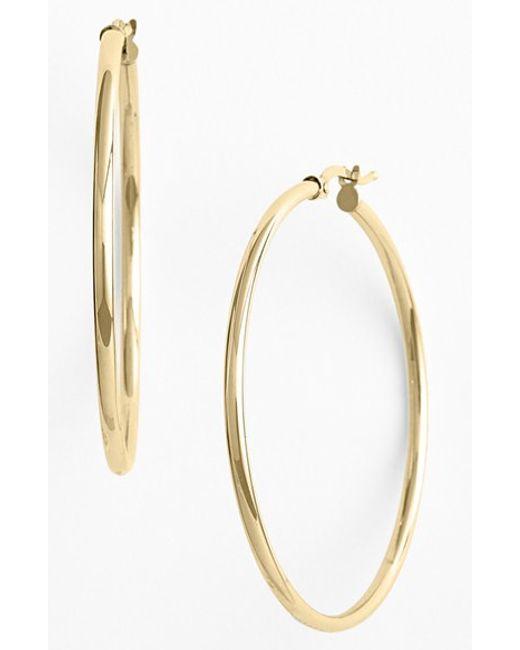 Bony Levy | Metallic 14k Gold Hoop Earrings (nordstrom Exclusive) | Lyst