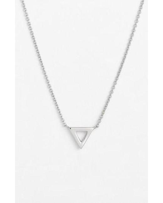 Bony Levy | Metallic Triangle Pendant Necklace (nordstrom Exclusive) | Lyst