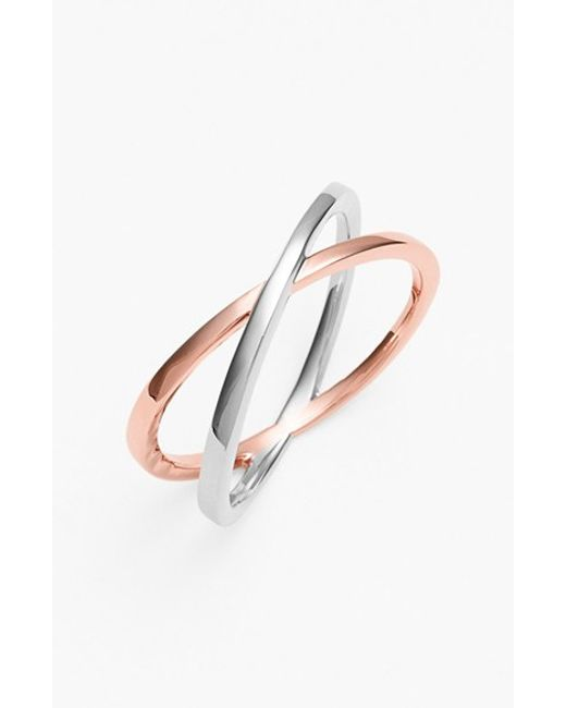 Bony Levy | Pink 14kt Crossover Open Ring (nordstrom Exclusive) | Lyst