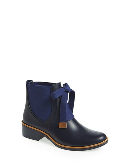 Bernardo | Blue Lacey Short Waterproof Rain Boot | Lyst