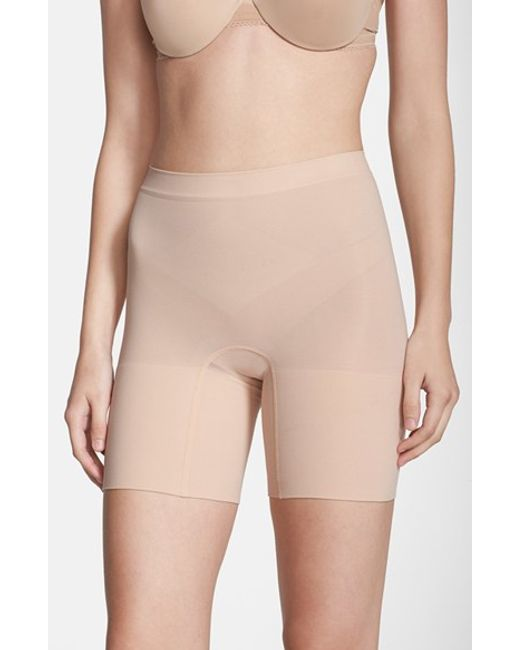 Spanx | Natural Spanx Power Short Mid Thigh Shaper | Lyst