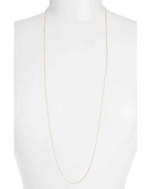 Bony Levy | Metallic Textured Chain Long Necklace (nordstrom Exclusive) | Lyst