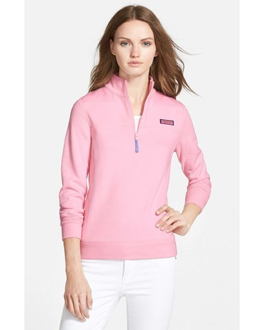 Vineyard Vines | Pink Shep Half Zip French Terry Pullover | Lyst