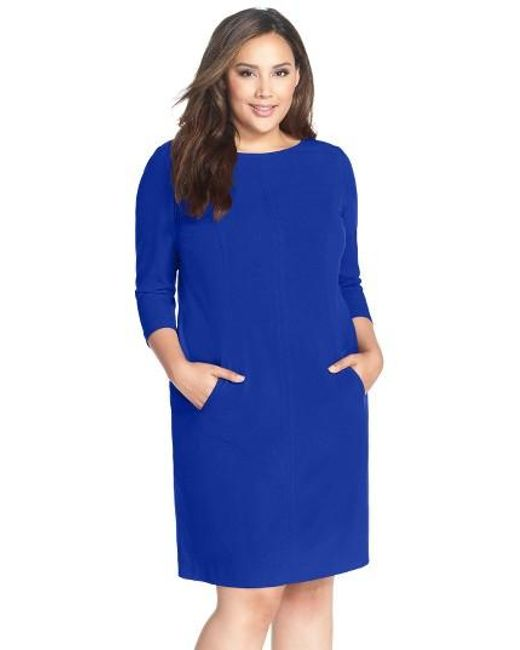 Tahari | Blue By Arthur S. Levine Seamed A-line Dress | Lyst
