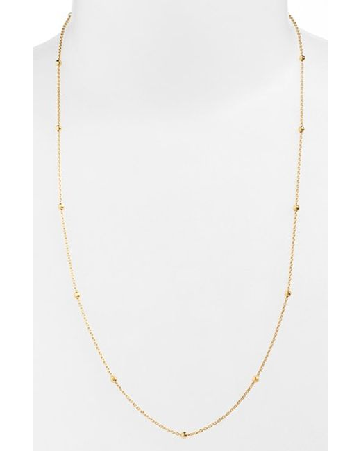 Argento Vivo | Metallic Long Station Necklace | Lyst