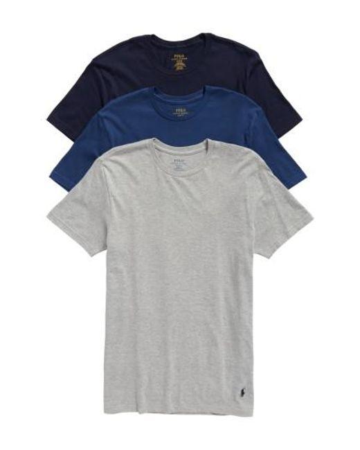 Polo Ralph Lauren | Multicolor Classic Fit Crewneck Cotton T-Shirt, (3-Pack) for Men | Lyst