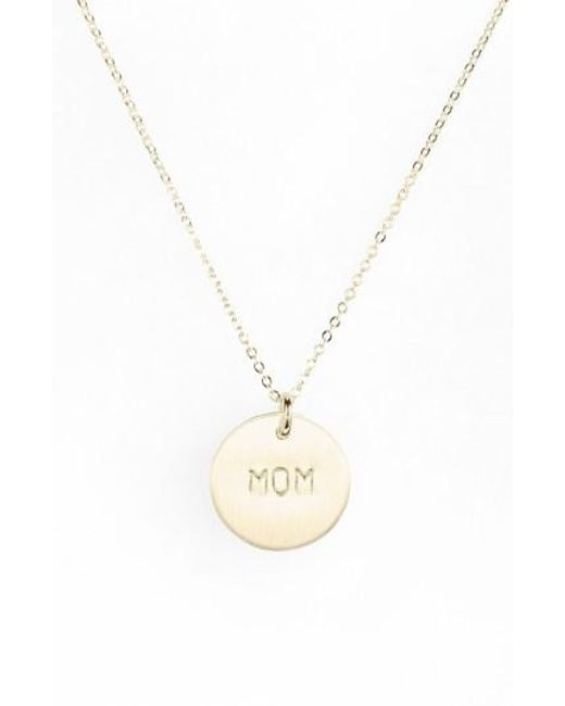 Nashelle | Metallic Sterling Silver Mom Charm Necklace | Lyst