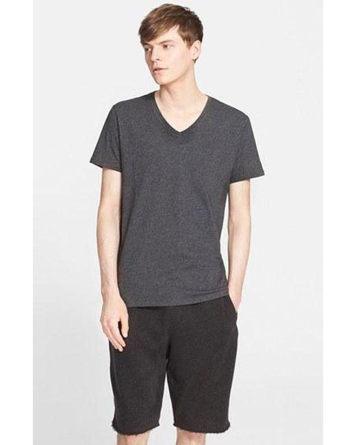 ATM   Gray Cotton Jersey V-neck T-shirt for Men   Lyst