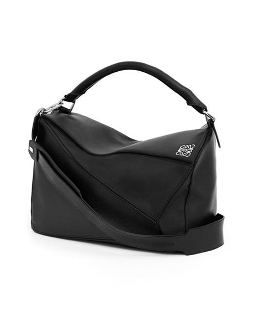 Loewe | Black 'large Puzzle' Calfskin Leather Bag | Lyst