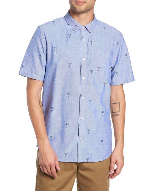 Vans - Blue Houser Palm Tree Woven Shirt for Men - Lyst