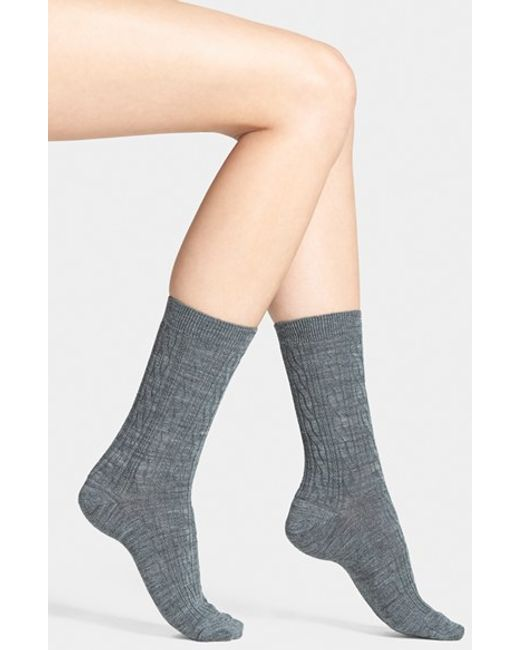 Smartwool | Gray 'cable Ii' Crew Socks | Lyst