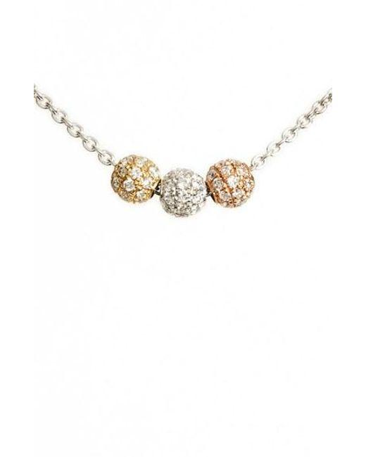 Bony Levy   Metallic Diamond Pave Beaded Necklace (nordstrom Exclusive)   Lyst