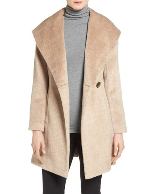 Trina Turk | Natural 'bonnie' Shawl Collar Skirted Coat | Lyst