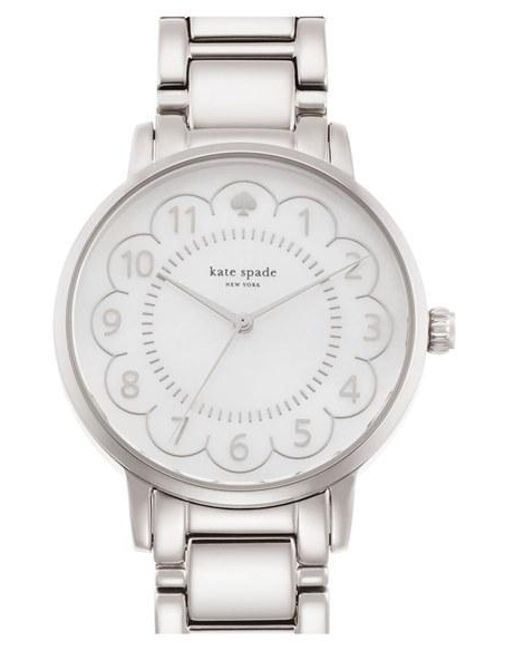 Kate Spade | Metallic 'gramercy' Scalloped Dial Bracelet Watch | Lyst