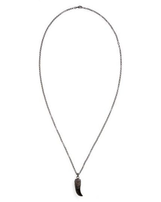 Link Up | Black Claw Pendant Necklace for Men | Lyst