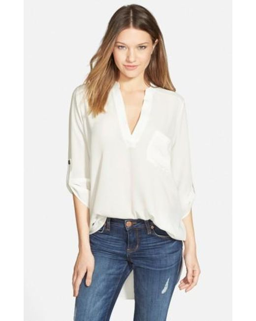 Lush | White Perfect Crepe Tunic Top | Lyst