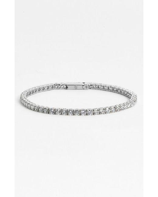Nadri | Metallic Small Tennis Bracelet | Lyst