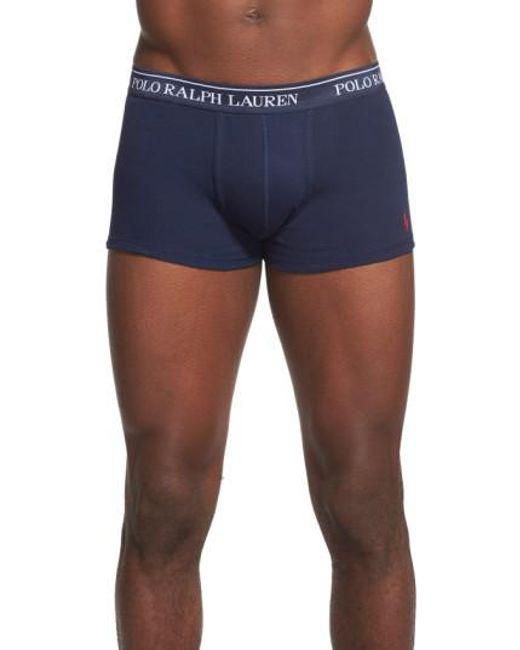 Polo Ralph Lauren | 3-pack Cotton Trunks, Blue for Men | Lyst
