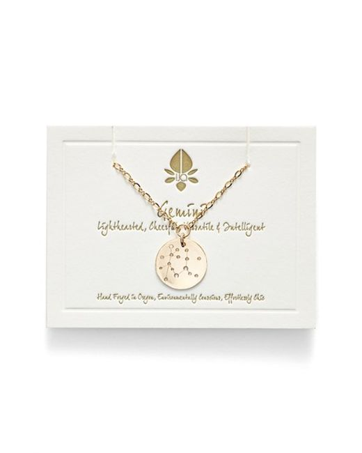 Nashelle   Metallic Ija 'large Zodiac' 14k-gold Fill Necklace   Lyst