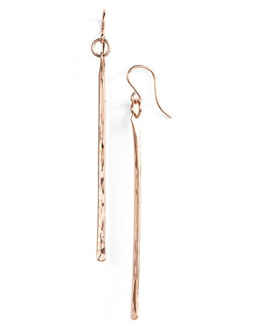 Nashelle | Pink Ija Stick Drop Earrings | Lyst