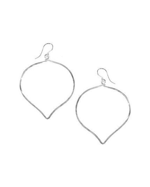 Nashelle | Metallic Ija 'large' Faceted Lotus Hoop Earrings | Lyst