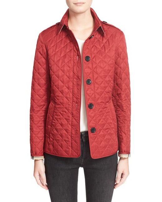 Burberry Ashurst Quilted Jacket In Blue Lyst