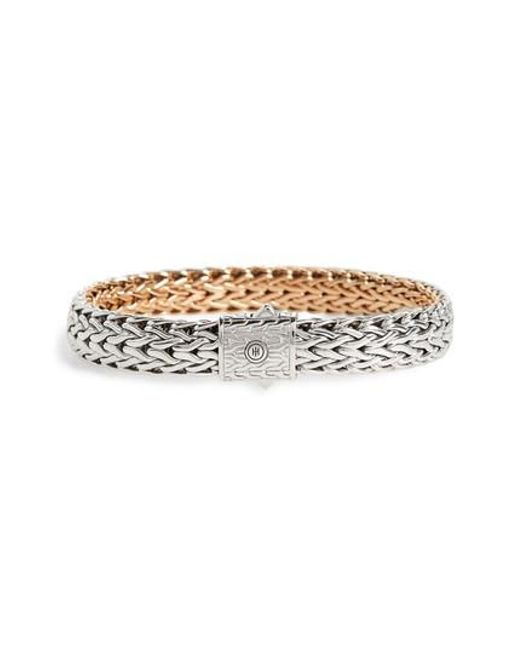 John Hardy   Metallic Classic Chain Flat Chain Reversible Bracelet for Men   Lyst