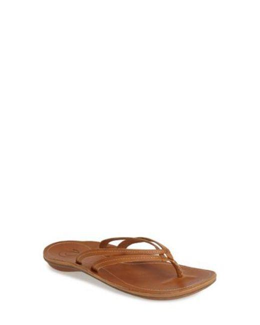 Olukai | Brown 'u'i' Thong Sandal | Lyst