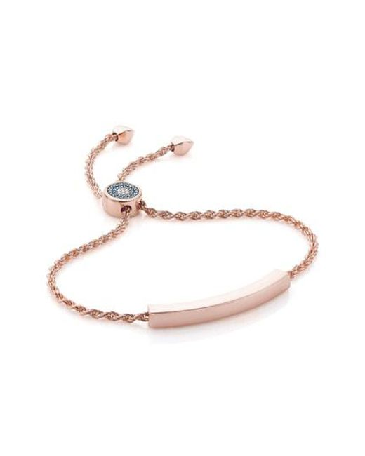 Monica Vinader - Metallic 'linear' Friendship Chain Bracelet - Lyst