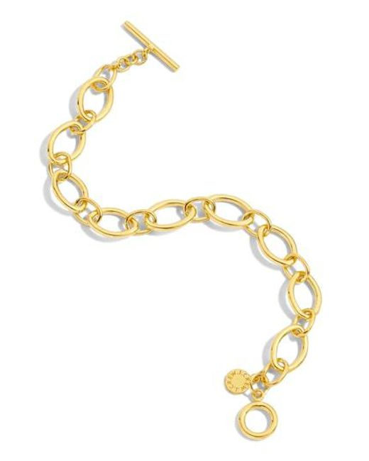 J.Crew - Metallic Wide Chain Bracelet - Lyst
