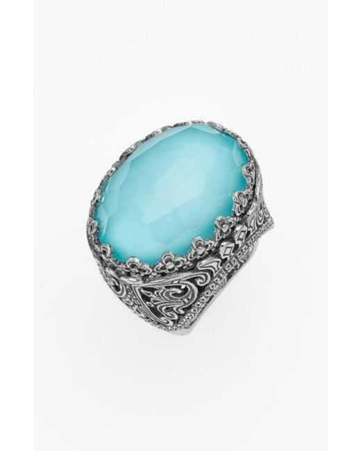 Konstantino   Metallic 'aegean' Oval Stone Ring   Lyst