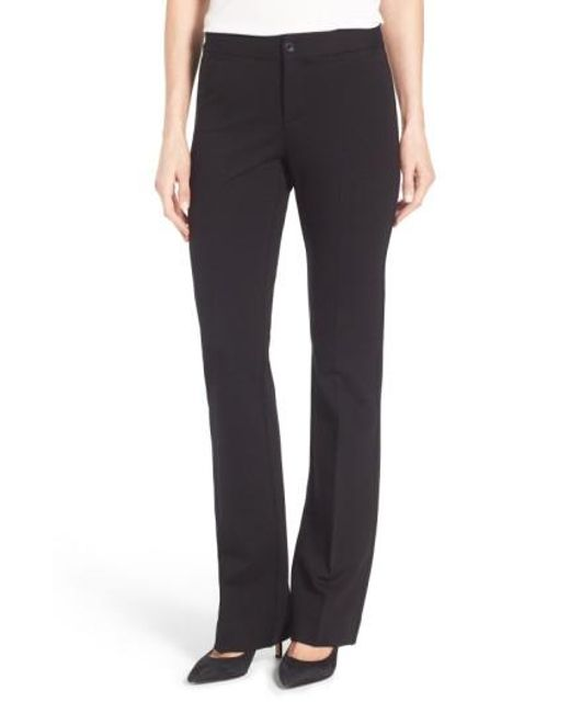 NYDJ | Black Michelle Stretch Ponte Trousers | Lyst