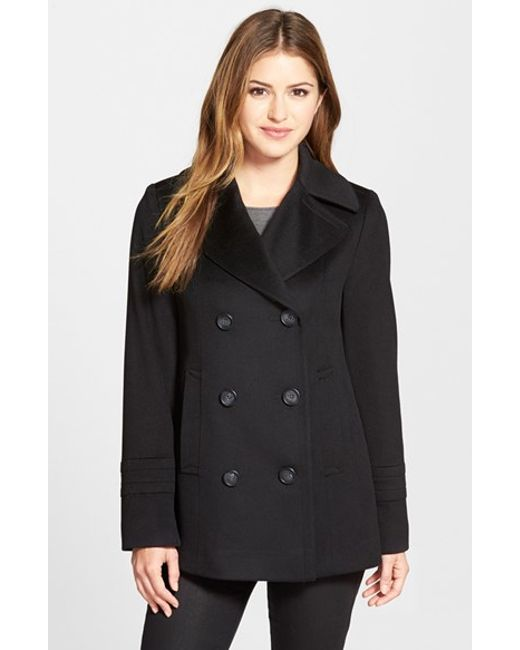 Fleurette | Black Wool Peacoat | Lyst