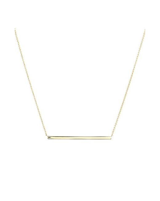 Bony Levy | Yellow 14k Gold Bar Pendant Necklace (limited Edition) (nordstrom Exclusive) | Lyst