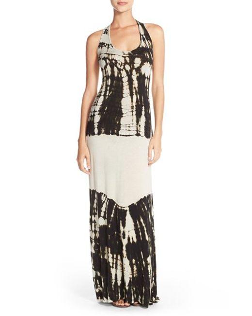 Fraiche By J   Black Racerback Maxi Dress   Lyst