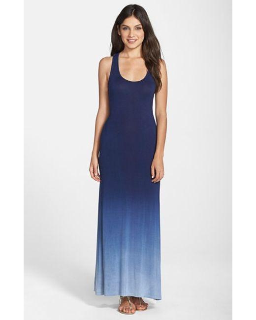 Fraiche By J | Blue Racerback Maxi Dress | Lyst