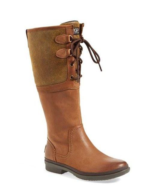 Ugg | Brown Ugg 'elsa' Waterproof Boot | Lyst